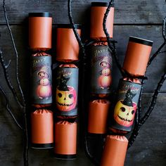 Add a pop of fun to Halloween parties with this set of festive crackers. A British favorite since the century and a Williams-Sonoma specialty, the crackers are wrapped in orange paper with vintage-inspired Halloween images and finished with b… Halloween Toys, Halloween Images, Halloween 2018, Halloween Party, Orange Paper, Fright Night, Vintage Ideas, Hairstyles For School, Williams Sonoma