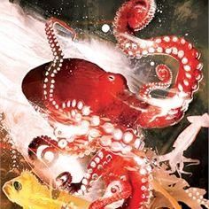 octopus fish sea aquarium seaweed lobster hunting underwater cave hunter predator