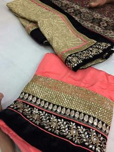 Black and peach Indian Suits, Indian Attire, Indian Dresses, Indian Wear, Punjabi Fashion, Indian Bridal Fashion, Bollywood Fashion, Punjabi Dress, Punjabi Suits