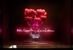 Sofia Coppola and Louis Vuitton Window Display at Le Bon Marché Rive Gauche Sofia Coppola, Window Display Design, Store Window Displays, Display Windows, Shop Displays, Louis Vuitton, Balloon Display, Rosa Pink, Store Windows