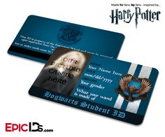 Harry Potter Inspired Hogwarts Student ID (Ravenclaw) [Photo Personalized]