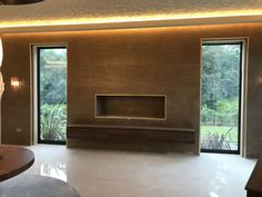 Cobre slate veneer feature wall