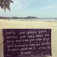Thought of the day and a good day to you all :) ❤️🌴 Us Travel, Family Travel, Good Day To You, Thought Of The Day, Goa, Beautiful Beaches, Tropical, India, Thoughts