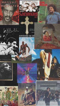 Wallpaper Notebook, Rap Wallpaper, Tumblr Wallpaper, Brazil Culture, Arte Do Hip Hop, Inspirational Wallpapers, We Bare Bears, Brown Aesthetic, Wall Collage