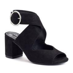 Style Charles by Charles David Katty Women's Block-Heel Sandals, Size: 8.5, Black