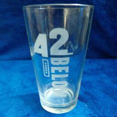 42 BELOW VODKA - BEER PINT DRINKING GLASS