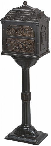 The Gaines Classic Mailbox And Post ClAlm+Ab, Almond + Antique Bronze by Gaines. $567.79. The Classic Mailbox, unlike most, includes the post.. Mailboxes and Posts are hand assembled and hand fitted.. Lockable front access door.. Accents in solid Polished Brass, Antique Bronze finished Brass, and Satin Nickel (aluminum).. Sixteen separate castings of areospace-grade aluminum and accented with solid brass or aluminum.. The Classic Collection is manufactured from die cast...