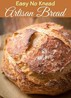 Easy No Knead Artisan Bread via @ohsweetbasil