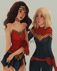 Marvel Drawing I love this artist so much! Wonder women and captain marvel fanart Marvel Dc Comics, Marvel Fanart, Marvel Avengers, Ms Marvel, Marvel Women, Marvel Girls, Captain Marvel, Supergirl, Marvel Cinematic Universe