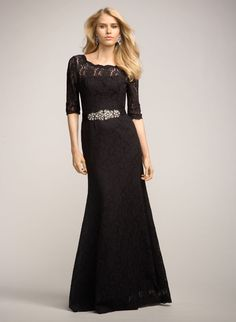 ae47f9beb70 Watters three-quarter sleeve lace trumpet gown - perfect for the mother of  the bride