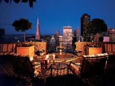 The penthouse view from the Fairmont San Francisco where we got married...