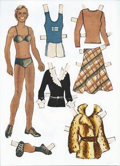 apu, paperinukke Paper People, Dress Up Dolls, Paper Dolls, Pretty Woman, Nostalgia, Retro, Clothes, Templates, Times