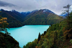 Ritsa lake, Abkhazia, Georgia