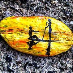 pedras pintadas, painted stones