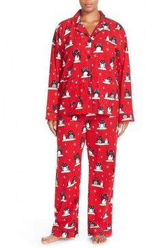 Charter Club Plus Size Pajamas, Holiday Lane Top and Flannel ...