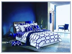 dark blue and purple bedding sets, royal bedroom decorating ideas