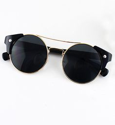 Shop Black Lenses Gold Round Sunglasses online. Sheinside offers Black Lenses Gold Round Sunglasses & more to fit your fashionable needs. Free Shipping Worldwide!