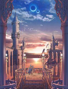 Baron Castle Balcony from Final Fantasy IV