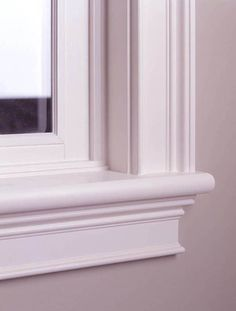 Window Trim Ideas and Styles. Window trim is made to cover gaps and also add decorative appeal trim ideas Window Cornices, Window Casing, Door Casing, Window Sill, Window Molding Trim, Window Ledge, Window Coverings, Exterior Door Trim, Diy Exterior