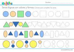 series logicas colores grafomotricidad  #logica #educacion #infantil