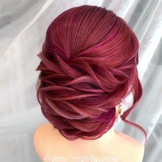 Hair colour for girls Frozen Hair Tutorial, Bridal Hair Tutorial, Braided Hairstyles Tutorials, Bride Hairstyles, Pretty Hairstyles, Diy Wedding Hair, Hairdo Wedding, Hair Dye Colors, Hair Color