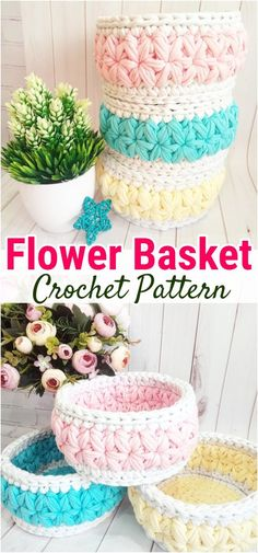 I am going to show you some crochet basket patterns which will increase your home décor.these will increase the beauty and décor of your home. Diy Crochet Basket, Crochet Basket Pattern, Crochet Cardigan Pattern, Purse Patterns Free, Crochet Purse Patterns, Home Decor Hooks, Crochet Storage, Boyfriend Crafts, Valentine's Day Diy