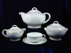 "Camille Tharaud, limoges service ""Exposition 1937"" porcelain tea set"