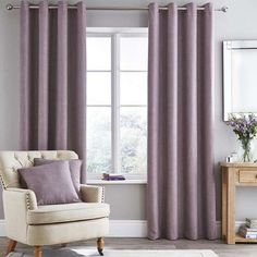 Fully lined to prevent disturbances from sunlight  these eyelet curtains  are finished in mauve andmauve gray color   Classic mauve  used here with shades of gray  . Mauve Bedroom. Home Design Ideas