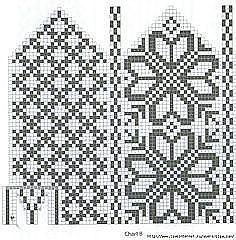 Intarsia Patterns, Fair Isle Knitting Patterns, Knitting Paterns, Bead Loom Patterns, Knitting Charts, Weaving Patterns, Knitting Projects, Knitted Mittens Pattern, Knit Mittens