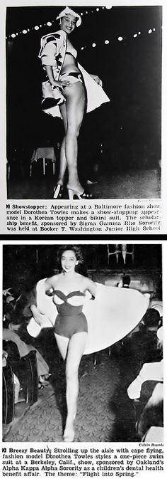 Dorothea Towles modeling in Berkeley California fashion show, sponsored by Oakland's Alpha Kappa Alpha Sorority. (2nd image)