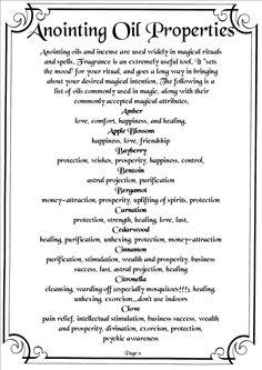 Herbs:  #Anointing #Oil Properties 01.