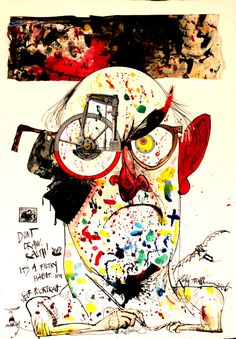 russbengtson:    Happy birthday to Ralph Steadman, whose illustrations perfectly embodied Hunter S. Thompson's style, and who somehow survived their partnership.