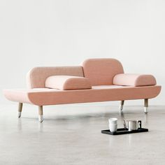 This sofa by Danish designer Anne Boysen can be arranged as an armchair, a chaise-longue or for two people to sit facing each other