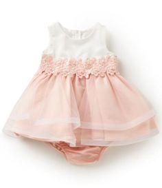 bb5d4532cba Rare Editions Baby Girls 3-24 Months Colorblock Tulle Dress