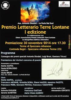 Giovanni Pistoia: Premio Letterario Terre Lontane I edizione 2014