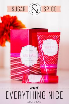 Gift a special someone a cozy holiday scent with new limited-edition† Body Lotion & Lip Balm Gift Sets in Sugar & Spice™. www.marykay.com/akhaileymae www.facebook.com/akhaileymae