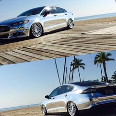 Two words: Chrome-dipped. Ford Parts, American Sports, Turbo S, Ford Fusion, Ford Motor Company, Car Wrap, Body Mods, Car Show, Custom Cars