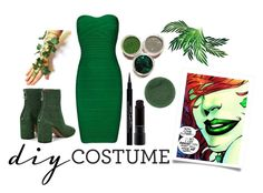 """Green with Envy"" by ariarosas ❤ liked on Polyvore featuring Hervé Léger, Maison Margiela, Givenchy, MAC Cosmetics, Lipstick Queen, halloweencostume and DIYHalloween"