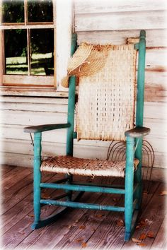 I see an old rocking chair I can't help but wonder about those who sat there and how comforted they must have been as they rocked their cares away - day after day after day.