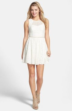 Way-In Lace Skater Dress (Juniors) available at #Nordstrom