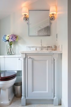 We wanted the bathrooms in the house to have a luxurious hotel feel. We used a lot of Carrara marble slabs in creating the bathrooms! Bespoke designed vanity unit and Lefroy Brooks fixtures.
