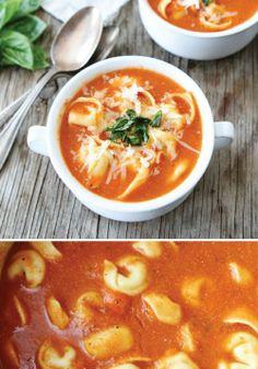 Creamy low calorie tomato soup made with Greek yogurt!