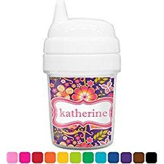 Birds & Hearts Baby Sippy Cup (Personalized)
