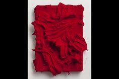 Program General: Jason Martin, Toureiro (2013), pigment on velvet, quinacridone scarlet.