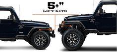 Jeep TJ Lift Kits 5 & Up (1997-2006 Wrangler)