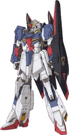 MSZ-006 Zeta Gundam (Wave Shooter Equipment Type - Modalità Mobile Suit) - Karaba (Variante del MSZ-006 Zeta Gundam, originariamente descritta nel manuale d'istruzioni del model kit MSZ-006 Zeta Gundam 1/144 High Grade. Quest'ultimo incluso nel manga è una variante del MSZ-006 Zeta Gundam, originariamente descritta nel manuale di model kit di istruzioni MSZ-006 Zeta Gundam 1/144 High Grade e quest'ultimo incluso nella Mobile Suit Z Gundam Define.)