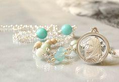 Catholic Religious Jewelry, Virgin Mary Necklace, Catholic Jewelry, Blessed…