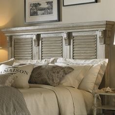 Henry Link Trading Co. Queen-Size Colton's Point Headboard with Louvered Panels by Henry Link Trading Co. - Baer's Furniture - Headboard Miami, Ft. Lauderdale, Orlando, Sarasota, Naples, Ft. Myers, Florida