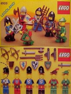LEGO Castle - Minifigures, 1988 oh wow....my kid would love this now
