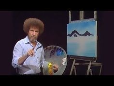 Join Bob Ross as he paints some of Nature's most awesome creations – magnificent snow-covered mountains! Season 18 of The. Bob Ross Painting Videos, Bob Ross Paintings, Face Paintings, Bob Ross Episodes, Learn Watercolor Painting, Tole Painting, Robert Ross, Bob Ross Quotes, Bob Ross Art